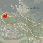 La BrosseLe spot se situe entre le lac du Héron et le golf de Brigode.vue large